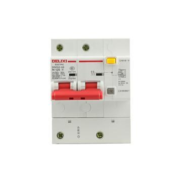 德力西DELIXI 微型漏电保护断路器,DZ47LE-125 2P D125A 75mA,DZ47LE1252D125R75