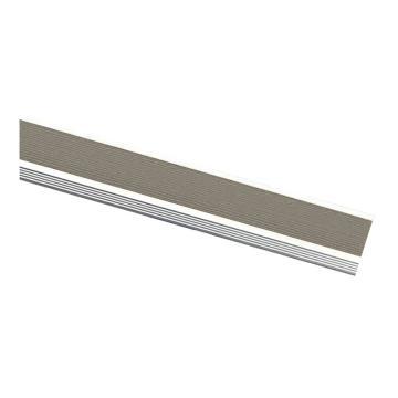 安赛瑞 铝合金楼梯包边防滑条-灰,长度1.5m,宽45×高18×厚1mm,13869