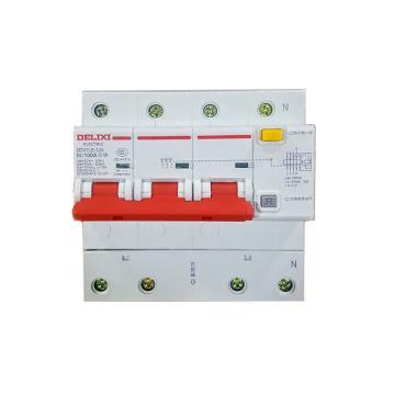 德力西DELIXI 微型漏电保护断路器,DZ47LE-125 3P+N D63A 75mA,DZ47LE1256D63R75