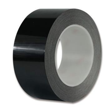 安赛瑞 耐磨型划线胶带,高性能自粘性PP表面覆超强保护膜,50mm×22m,黑色,15649