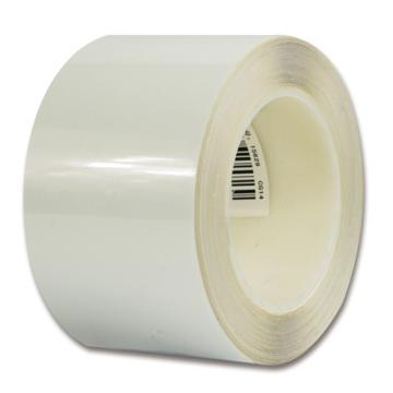 安赛瑞 耐磨型划线胶带,高性能自粘性PP表面覆超强保护膜,75mm×22m,白色,15629
