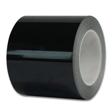 安赛瑞 耐磨型划线胶带,高性能自粘性PP表面覆超强保护膜,100mm×22m,黑色,15640