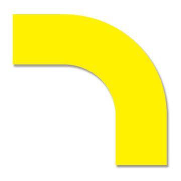 安赛瑞 耐磨型拐角地贴-黄,PET基材,225×225×75mm,11907,10片/包