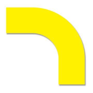 安赛瑞 耐磨型拐角地贴-黄,PET基材,300×300×100mm,11908,10片/包