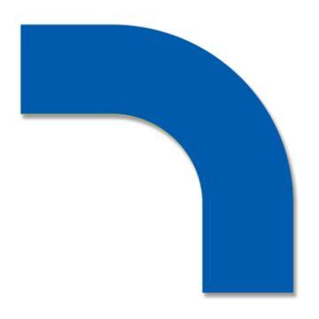 安赛瑞 耐磨型拐角地贴-蓝,PET基材,225×225×75mm,11913,10片/包