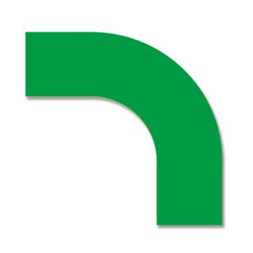 安赛瑞 耐磨型拐角地贴-绿,PET基材,150×150×50mm,11915,10片/包