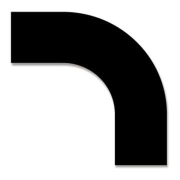 安赛瑞 耐磨型拐角地贴-黑,PET基材,150×150×50mm,11921,10片/包