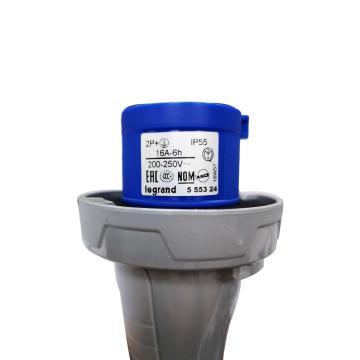 罗格朗Legrand 工业插头,IP55 230V 16A 2P+E,555324
