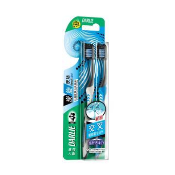 黑人darlie牙刷,T47炭旋雙潔中國軟性2支裝