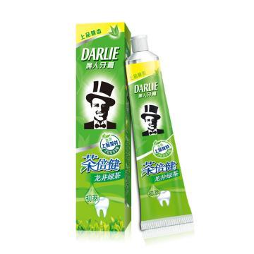 黑人darlie牙膏,茶倍健140g