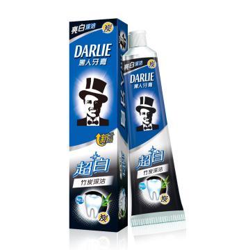 黑人darlie超白(竹炭深潔)牙膏,90g