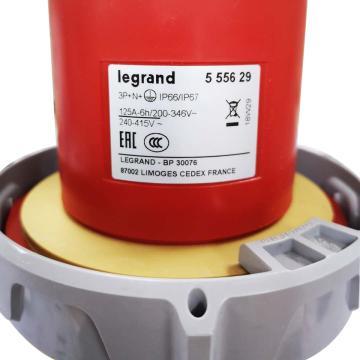 罗格朗 工业插头,IP 66/67 AC 380/415V 125A 3P+N+E,555629