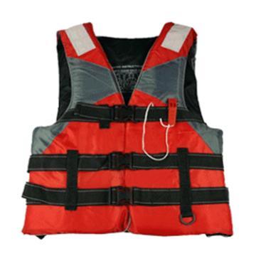 安賽瑞 國標成人救生衣(綁腿款)牛津布+高浮力EPE芯材,配1個救生口哨及2片反光片,21651