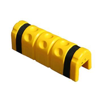 安赛瑞 弹性吸能货架防撞器,450×140×160mm,开口宽度80mm,黄色,配2条魔术搭扣,11726