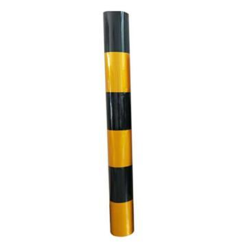 安赛瑞 电线杆防撞警示反光贴膜-3黄3黑,120cm×50m,13454