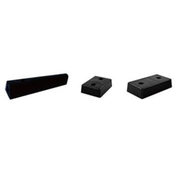 安赛瑞 防撞缓冲块,优质原生橡胶,黑色,重8kg,含安装配件,330×250×100mm,11048