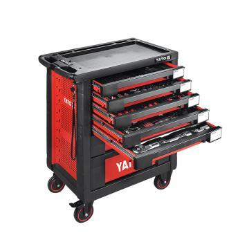 易尔拓YATO 高档165件套7抽屉工具车托盘组套,958 x766x465mm,YT-55293
