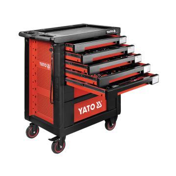 易尔拓YATO 高档189件套7抽屉工具车托盘组套,958 x766x465mm,YT-55292