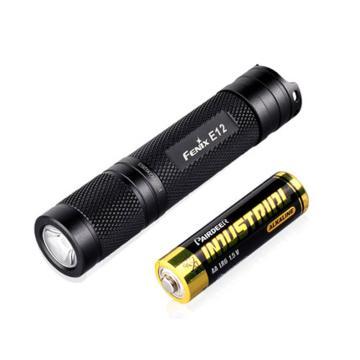 Fenix 迷你强光手电筒,E12 含5号干电池,单位:个