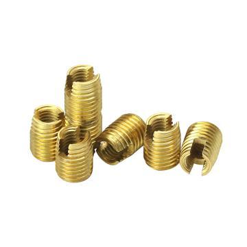 自攻螺套(302开槽型),M2*0.4-4.5*0.5-6L,1215(碳钢),黄锌,1000个/袋