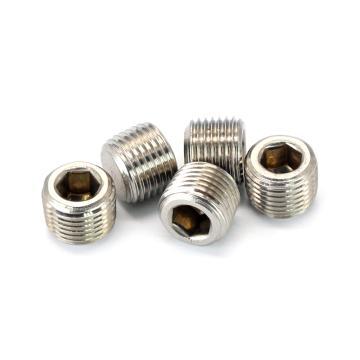 DIN906内六角喉塞,NPT3/4,不锈钢304,洗白,70个/盒