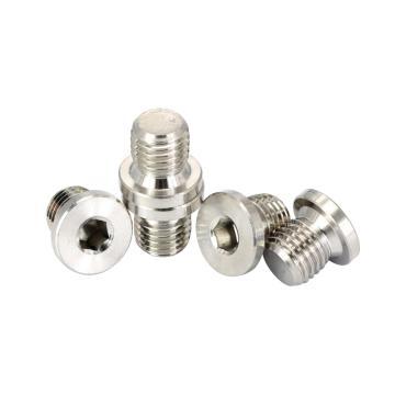 DIN908内六角圆柱头喉塞,G1/8,不锈钢304,洗白,500个/盒