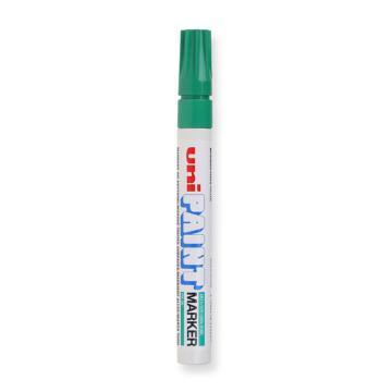 三菱 记号笔,油性记号笔 粗头 PX-20(绿色) 单位:支