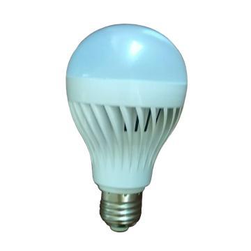 LED 微波雷达感应球泡 5W E27 白光 感应距离5-8m  延时时间18-25s 带光控  灯泡直径50mm 高度110mm