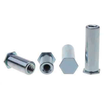 盲孔壓鉚螺母柱,BSO-3.5M3-8,1008(碳鋼),藍白鋅,2000個/袋