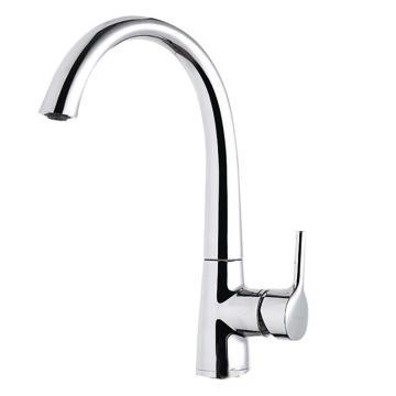九牧 冷热单把厨房龙头高弯水槽龙头,出水嘴高度235.5mm,进出水中心距190mm,33104-435/1B-Z