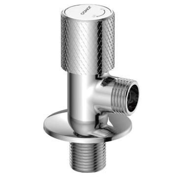 九牧/JOMOO 1/2寸冷热同款黄铜主体金属手轮角阀,进水螺纹:G1/2,74064-459/1C-1