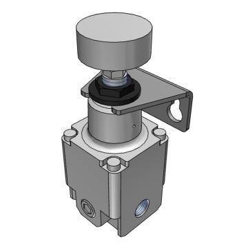 SMC 精密减压阀,手动型,0.01-0.8MPa,配管口径Rc1/4,带托架,IR2020-02B