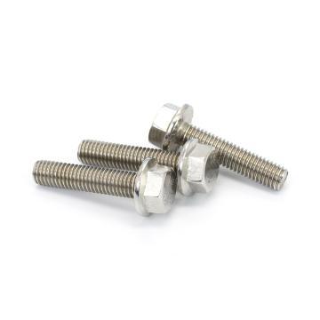 GB5787六角头法兰面螺栓,M6-1.0X12,不锈钢304,洗白,600支/盒