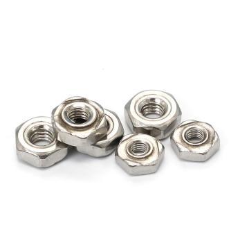 DIN929六角焊接螺母,M5-0.8,不锈钢304,洗白,2500支/盒