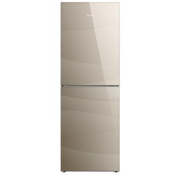 美菱 269升双门冰箱,BCD-269WPB,变频风冷无霜,玻璃面板,一级能效