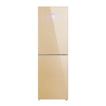 美菱 311升双门冰箱,BCD-311WPB,变频风冷无霜,玻璃面板