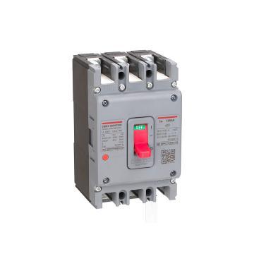 德力西DELIXI 塑壳断路器,CDM3-100F/3200 100A 插入式板前接线,10个/包