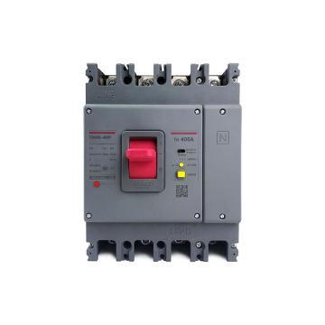 德力西DELIXI 塑壳漏电断路器,CDM3L-400F/4200A 315A U 1/3/5延1 AC230V,10个/包