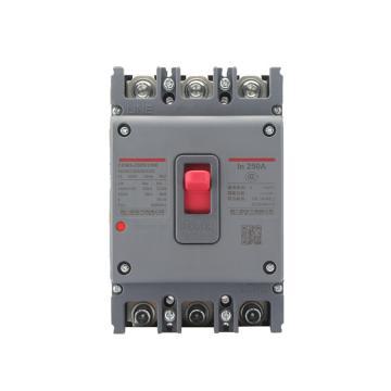 德力西DELIXI 塑壳漏电断路器,CDM3L-250F/4200B 200A 1/3/5,10个/包