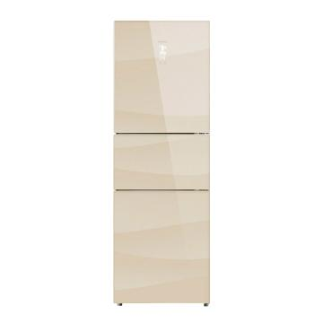 美菱 253升三门冰箱,BCD-253WP3B,变频风冷,玻璃面板