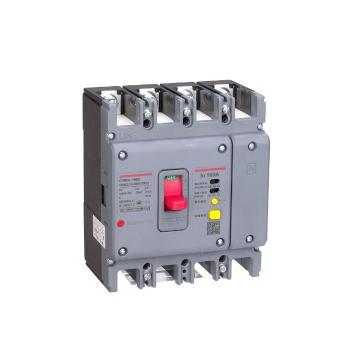 德力西DELIXI 塑壳漏电断路器,CDM3L-630F/4200A 500A 1/3/5延3 U AC230V,10个/包