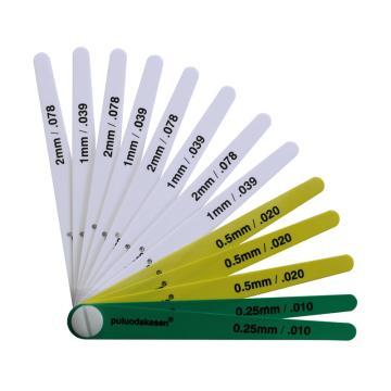普罗达克森Production 塑料塞尺,0.25-2mm、13片/套,15026
