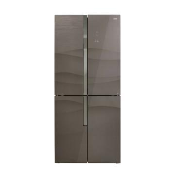 美菱 451升十字对开门冰箱,BCD-451WUP9B,APP操控,拿铁棕色