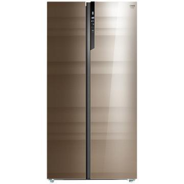 美菱 645升对开门冰箱,BCD-645WUPBA,0.1度变频,底部散热,90°开门