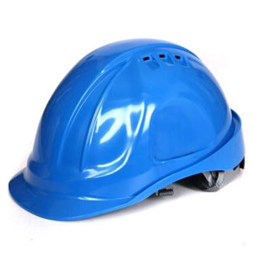 代尔塔DELTAPLUS 安全帽,102106-BL,M型安全帽 带透气孔 蓝色 旋钮式 含下颚带