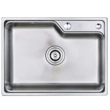 九牧 不锈钢加厚单槽水槽,槽体规格:580*430*210mm,06156-7Z-1