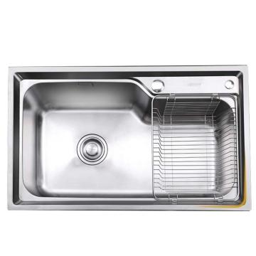 九牧 不锈钢大单槽厨房水槽,槽体规格:750*450*230mm,06124-7Z-1