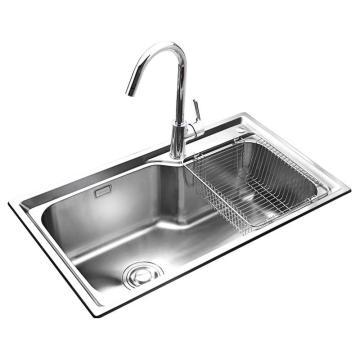 九牧 不锈钢大单槽厨房水槽套餐,槽体规格:750*450*230mm,02117-00-Z