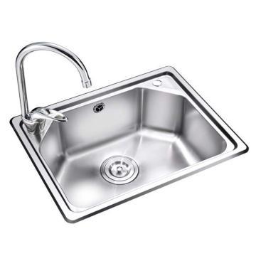 九牧 不锈钢单槽厨房水槽套餐,槽体规格:520*400*190mm,02080-00-Z