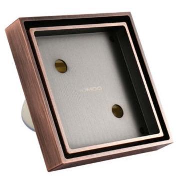 九牧/JOMOO 特色隐形精铜淋浴地漏,10*10cm,92182-3B-1